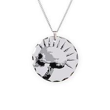 spike skull punk rock Necklace