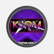 T-shirt KJEM Radio Logo Purple Spotligh Wall Clock