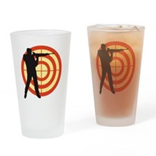 shooting sports Drinking Glass