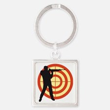 shooting sports Square Keychain