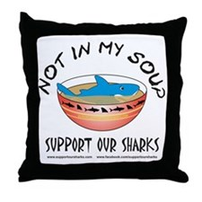Not In My Soup Throw Pillow
