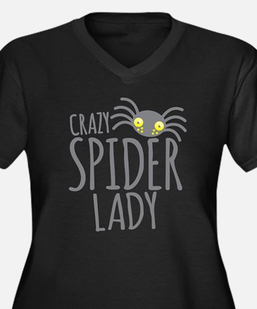 Crazy Spider lady Plus Size T-Shirt