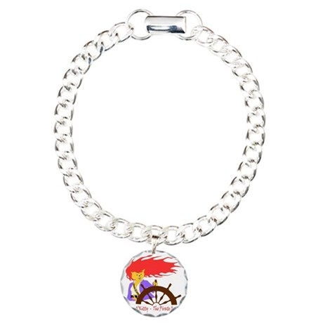 Pirate Queen Charm Bracelet, One Charm