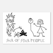 Sick of Stick People Camp Postcards (Package of 8)