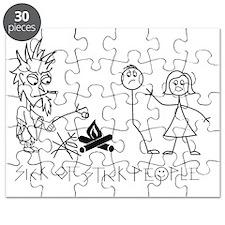 Sick of Stick People Camp Fire Puzzle