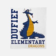 Dufef Elementary Dragons Throw Blanket