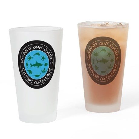 Support Our Sharks - Support Our Oc Drinking Glass