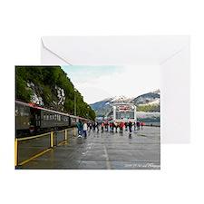 Railway and Cruise Ship Greeting Card
