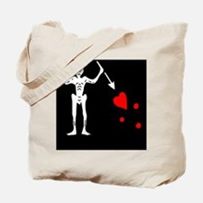 Black Beard Pirate Flag Tote Bag