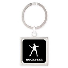 Rockstar Square Keychain