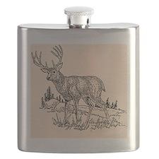 Deer Drawing Flask