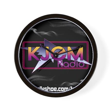 T-shirt KJEM Radio Logo Smoke web Wall Clock