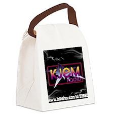 T-shirt KJEM Radio Logo Smoke web Canvas Lunch Bag