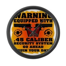Equipped With .45 Caliber Securit Large Wall Clock