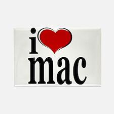 I love Mac Rectangle Magnet
