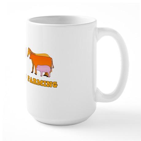 Peace Love Farming Large Mug