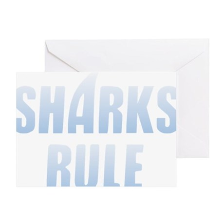 Sharks Rule! Greeting Card