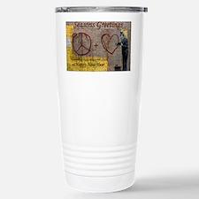 Seasons Greetings Stainless Steel Travel Mug