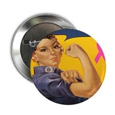 "Fight like a girl 2.25"" Button"
