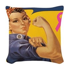 Fight like a girl Woven Throw Pillow