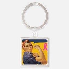 Fight like a girl Square Keychain