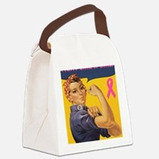 Fight like a girl Canvas Lunch Bag