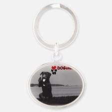 Dogananda on Levee Oval Keychain