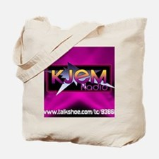 T-shirt KJEM Radio Logo Magenta Spotlight Tote Bag