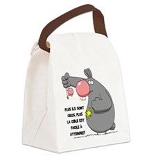 bruno pipi Canvas Lunch Bag