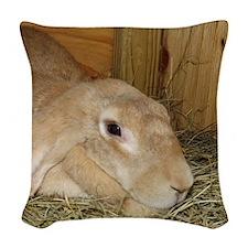English Lop Woven Throw Pillow