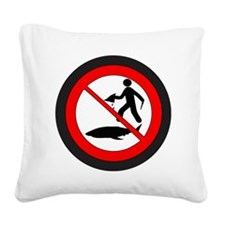 Stop Shark Finning Square Canvas Pillow