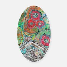 Agate Oval Car Magnet