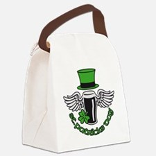 st. ptaricks day beer hat wings s Canvas Lunch Bag