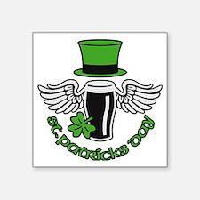 "st. ptaricks day beer hat w Square Sticker 3"" x 3"""