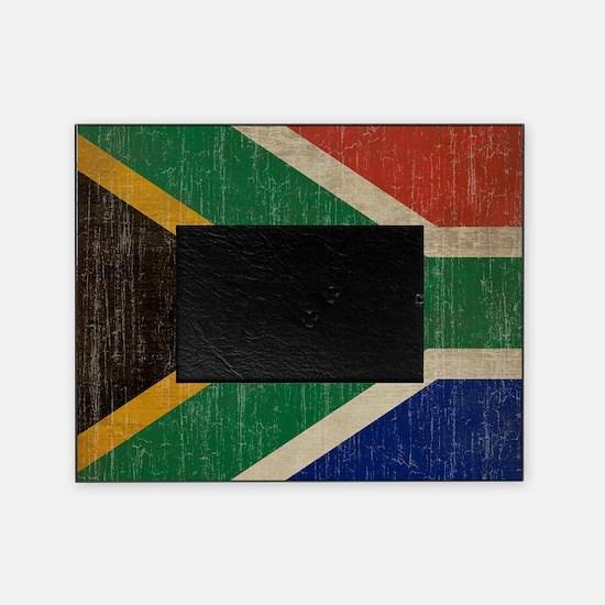 Vintage South Africa Flag Picture Frame