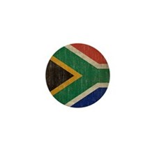Vintage South Africa Flag Mini Button