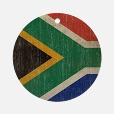 Vintage South Africa Flag Round Ornament