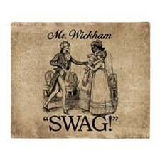 Mr Wickham Swag Throw Blanket