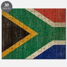 Vintage South Africa Flag Puzzle