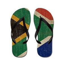 Vintage South Africa Flag Flip Flops