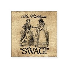 "Mr Wickham Swag Square Sticker 3"" x 3"""