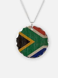 Vintage South Africa Flag Necklace