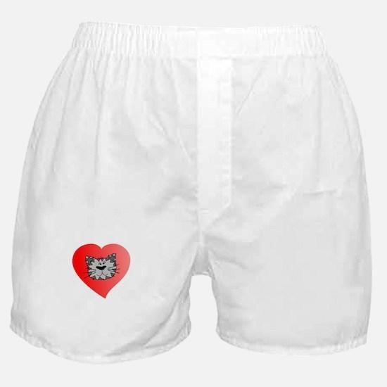 CVAS I Heart Feral Kitties (dark) Boxer Shorts