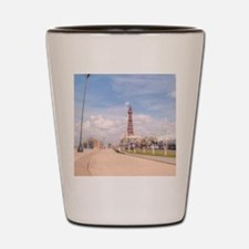 Blackpool Tower and Oar Shot Glass
