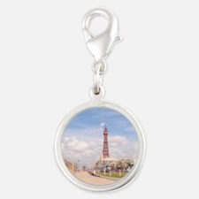 Blackpool Tower and Oar Silver Round Charm