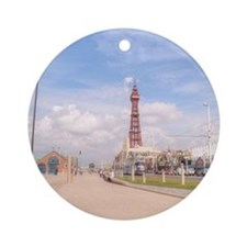 Blackpool Tower and Oar Round Ornament