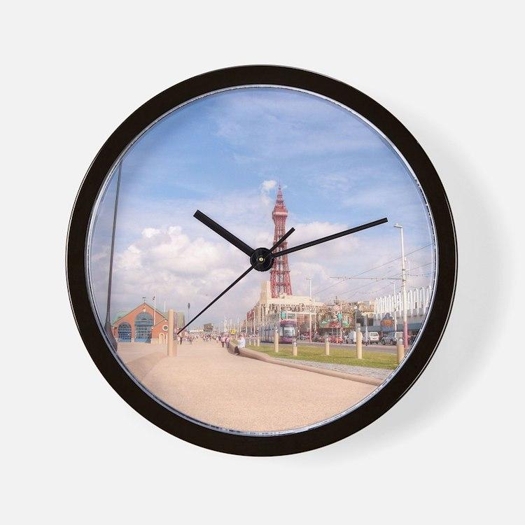 Blackpool Tower and Oar Wall Clock