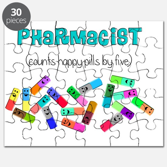 pharmacist counts happy pills Puzzle