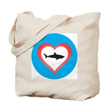 Love Sharks Tote Bag