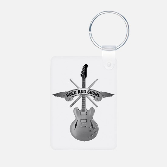 ROCK AND GROHL Aluminum Photo Keychain